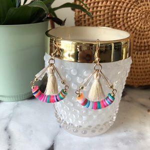Fringe & Neon Bohemian Earrings